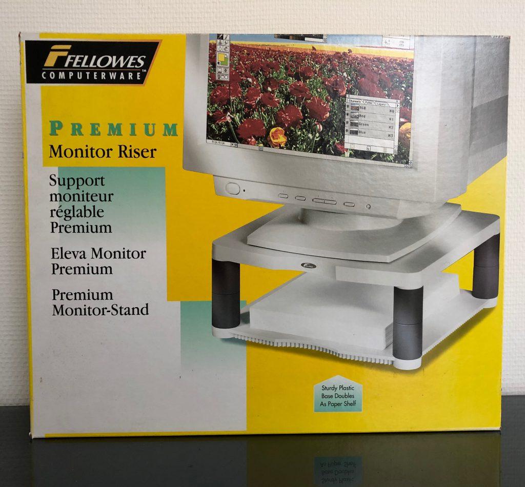 Premium Monitor Riser met draagvermogen tot 27 kilo € 11,90